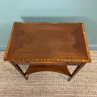 Elegant Edwardian Inlaid Mahogany Antique Side Table (2 of 6)