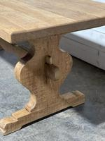Bleached Oak French Trestle End Farmhouse Dining Table (11 of 28)