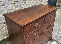 Antique Oak Chest of Drawers with Crossbanded Edge (11 of 17)