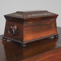 George IV Rosewood & Mother of Pearl Tea Caddy (10 of 11)