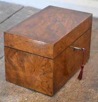Fine London Made Burr Walnut Tea Caddy (5 of 6)