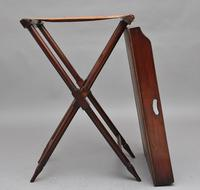 19th Century Mahogany Butlers Tray on Stand (9 of 10)