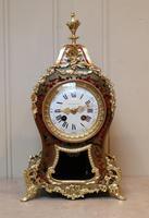 French Tortoiseshell & Brass inlay Mantel Clock (2 of 14)