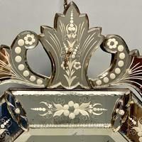 19th Century Cut & Etch Venetian Mirror (3 of 10)
