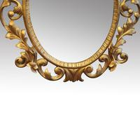 Antique Carved Oval Gilt Mirror (2 of 7)