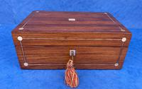 Victorian Rosewood Jewellery Box with Inlay (3 of 10)