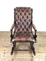 Brown Leather Chesterfield Style Rocking Chair (14 of 15)