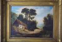 19th Century Oil on Board Thatched Cottage (2 of 10)