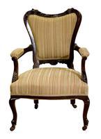 Pair of 19th Century Mahogany Open Armchairs c.1890 (3 of 8)