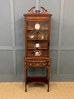Edwardian Slender Inlaid Mahogany Display Cabinet (15 of 21)