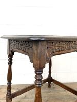 Early 20th Century Antique Oak Carved Side Table (5 of 10)
