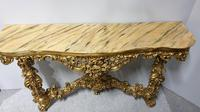 Carved Wood Gilt Console Table (9 of 17)