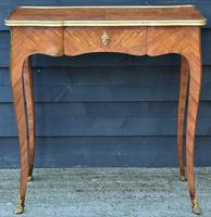 Exceptional Quality 19th Century French Kingwood Writing Table/ Lamp Table/ Centre Table. (11 of 15)