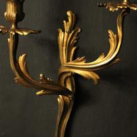 French Pair Of Bronze Antique Wall Sconces Oka (6 of 10)