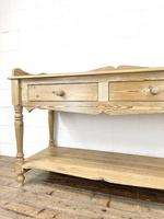 Large Rustic Pine Sideboard with Drawers (5 of 10)