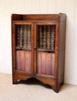 Small Proportioned Oak Glazed Bookcase (9 of 10)