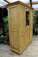 Lovely Old Antique Pine Triple 'knock down' Wardrobe - We Deliver / Assemble (3 of 8)