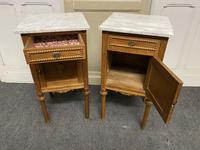 Pair of French Marble Top Bedside Cupboards (8 of 13)