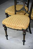 6 Victorian Aesthetic Movement Dining Chairs (7 of 13)