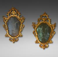 Matched Pair of Mid 18th Century Italian Mirrors