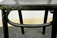 Bentwood Vintage Ebony / Black Floral Print Chair (7 of 9)