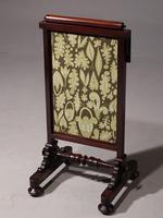 An Early Victorian Fire Screen with Movable Sections