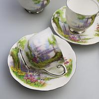 Art Deco Swan Lake Porcelain Roslyn Peacehaven Coffee Set c.1930 (5 of 10)