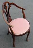 1920's Mahogany Side Chair in Pink (2 of 3)
