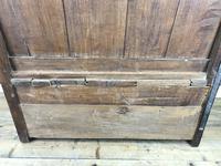 Small Antique Oak & Fruitwood Box Settle (10 of 12)