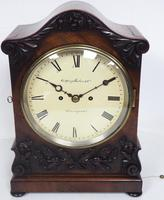 Antique English 8 Day Twin Fusee Bracket clock 8-Day Striking Double Fusee Mantel Clock By G Spiegelhalter & Co Whitechapel (6 of 13)