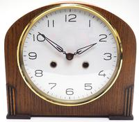 Really Good Hat Shaped Mantel Clock – Striking 8-day Arched Top Mantle Clock