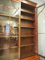 Tall George III Mahogany Cabinet Bookcase (12 of 13)