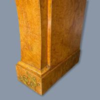 French Burr Walnut & Marble Top Console Table (10 of 14)