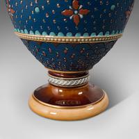 Pair of Antique Decorative Vases, German, Ceramic, Villeroy & Boch, Victorian (8 of 12)