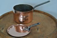 Quality Victorian Copper Saucepan & Lid Castellated Seam 8 Inch Diameter (2 of 7)