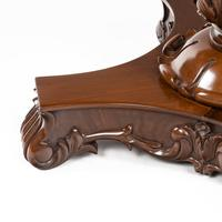 Anglo-Indian Mahogany Table with Nero Portoro Marble top by White & Co Calcutta (6 of 7)