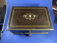 19th Century French  Ebonised Fruitwood Jewellery Box (14 of 18)