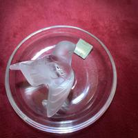 """Lalique """"Sparrow"""" Ring Dish in Clear & Frosted Glass with Original Label (5 of 9)"""