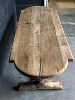 19th Century Rustic Oak Farmhouse Dining Table (4 of 23)