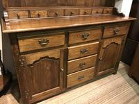 Oak open rack dresser with cupboard and draw base (4 of 14)