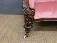 Large Victorian Carved Rosewood Settee (4 of 12)