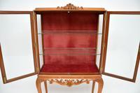 Queen Anne Style Burr Walnut Display Cabinet c.1930 (11 of 11)