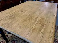 Antique Victorian Pine Farmhouse Table with Drawer (16 of 16)