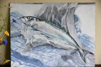 Still Life - Mackerel Oil Painting (5 of 11)