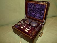 Quality Edge Bound Rosewood Gents Fitted Dressing Box c.1850 (6 of 16)