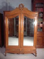 Carved Oak 2 Door  Armoire (8 of 9)