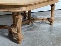 Huge Bleached Oak French Extending Dining Table (16 of 24)