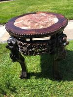 Chinese Hongmu Jardinière or Side Table with Marble Inset, Antique (11 of 16)