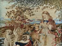 Large Beautiful Framed Original 19thc German Berlin Needlework Tapestry Picture (11 of 15)