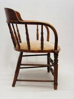 Edwardian Oak Upholstered Tub Chair (8 of 18)